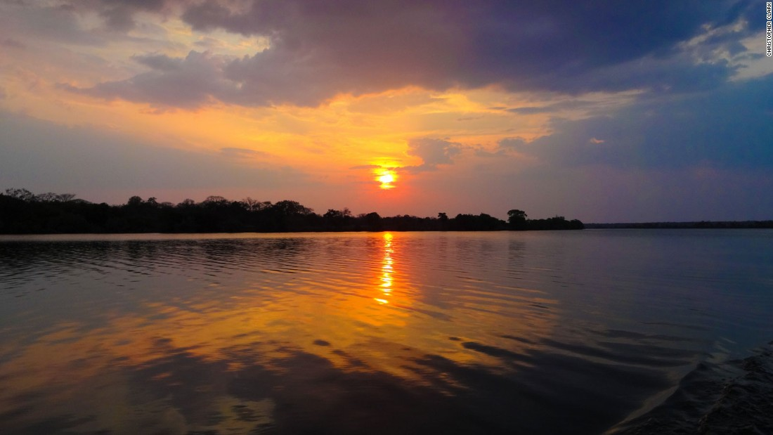 The legendary African sunsets look even better when they're reflected in the deep waters of the Zambezi.