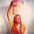Indian woman Holi Festival celebration Insta