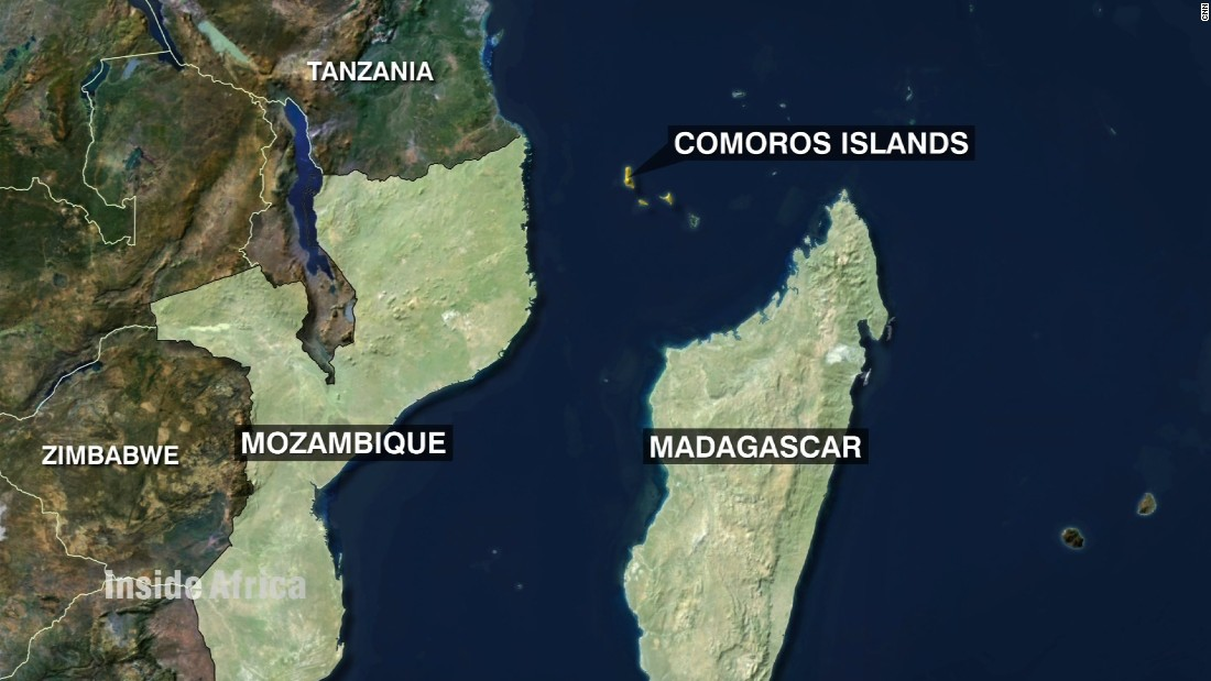 The Comoros Islands are situated off the southeastern coast of Africa, between Mozambique and Madagascar.