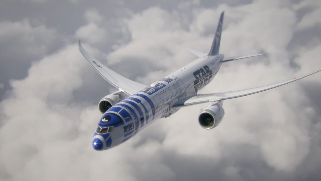 The airline debuted plans in April for the R2-D2 ANA jet, a Boeing 787-9 Dreamliner bearing the beloved droid's likeness.