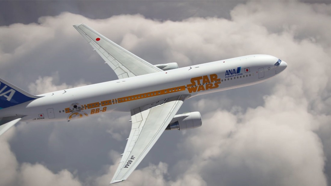 Another vessel, a Boeing 777-300ER featuring the roly-poly BB-8, is scheduled to start serving international routes between Japan and North America in March.