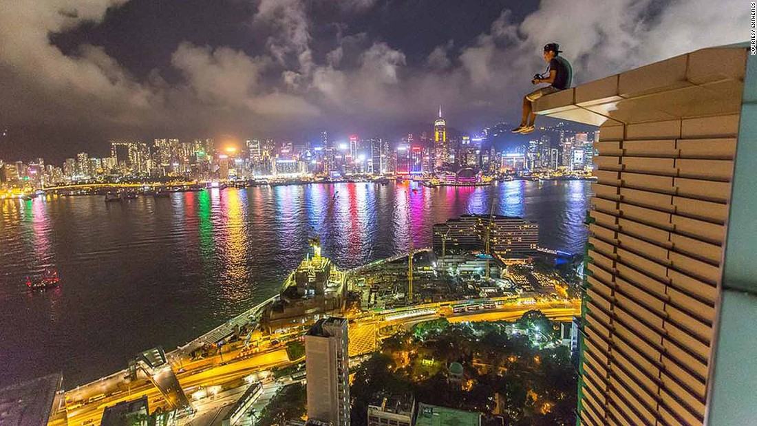 """""""Rooftopping is like a getaway from city life to me -- Hong Kong is such a fast-paced city with so much pressure and noise,"""" says Lau. """"When I'm on a rooftop, everything slows down, you don't hear anything but wind, all the rush from the ground became like slow-motion."""""""