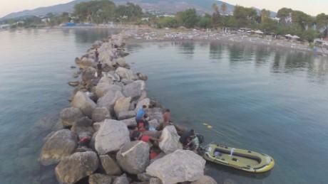 greece kos migrant arrival drone footage orig_00001406