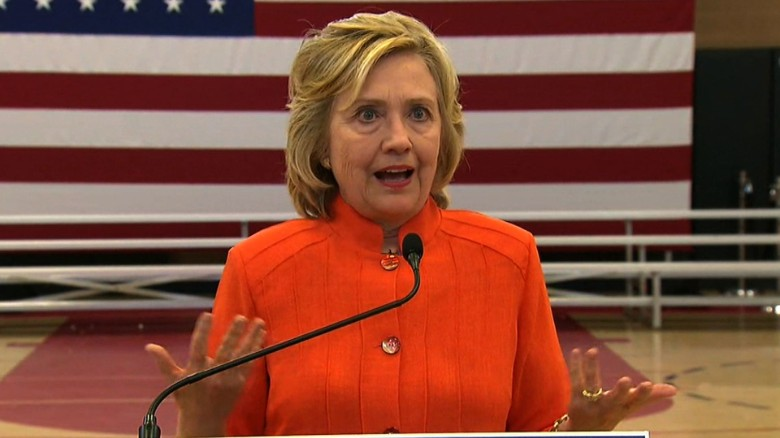 Clinton stumbles over email question