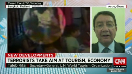 exp Taleb Rifai, Secretary-General of the UNWTO, discusses Bangkok and tourism. _00002001