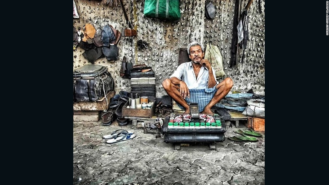 "A roadside <a href=""https://instagram.com/p/4q2lO3mQq1/"" target=""_blank"">shoe shiner</a> and cobbler in Calcutta, by Instagrammer <a href=""https://instagram.com/suva_09/"" target=""_blank"">@suva_09</a>, a 20-year-old engineering student.<br /><br />""I liked the way he was sitting in a hot afternoon, waiting for his customer. I like to capture the charm of Kolkata, my city -- its uniqueness, its people, its heritage. Instagram inspires me to wander  more and click more photos. I want people from all over the world to see Kolkata and love its charm through my photographs.""<br />"