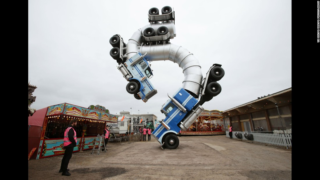 Big Rig Jig, a sculpture by Mike Ross, on display at Dismaland.