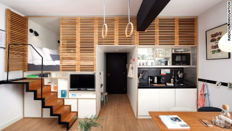The Zoku loft converts to work, living and social spaces.