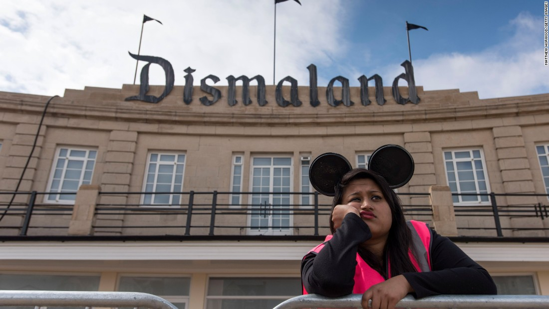 "Earlier this year, on the other side of the Channel, <a href=""http://edition.cnn.com/2015/08/20/arts/banksy-dismaland-art-exhibition/"">Banksy's Dismaland theme park</a> -- the street artist's dystopian take on Disneyland -- opened in southwest England."