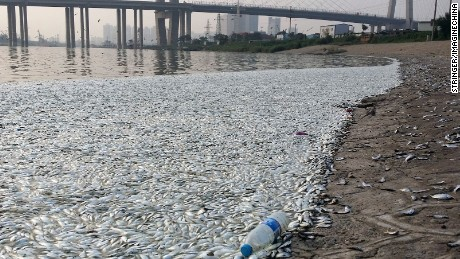 A large number of dead fish found in the city's Haihe River are stoking fears that contamination has spread.