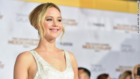 """Actress Jennifer Lawrence attends the premiere of Lionsgate's """"The Hunger Games: Mockingjay - Part 1"""" at Nokia Theatre L.A. Live on November 17, 2014 in Los Angeles, California."""