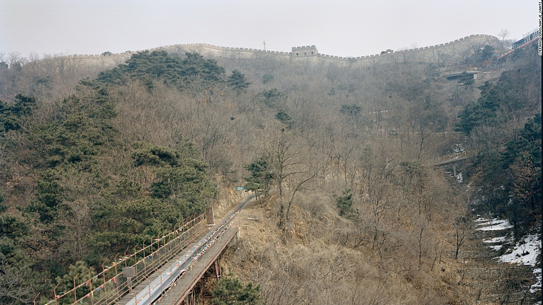 "The Great Wall Toboggan is a treat for tourists visiting the Mutianyu section of the Great Wall. First Lady Michelle Obama took a ride when she visited China in 2014. This is one of the 54 photos featured in the book, ""Chinese Fun."""