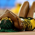shelly-ann fraser-pryce on ground