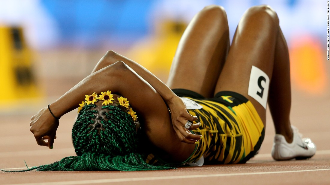 Like Bolt, she won the 100m world title at Beijing National Stadium in 2015.