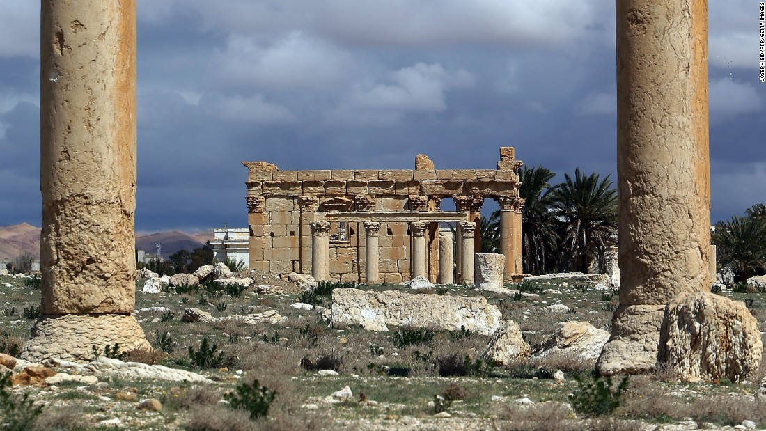 The Islamic extremist group ISIS has reportedly blown up a nearly 2,000-year-old temple in the historic ruins of Palmyra, Syria. The temple is seen here on March 14, 2014, before the destruction.