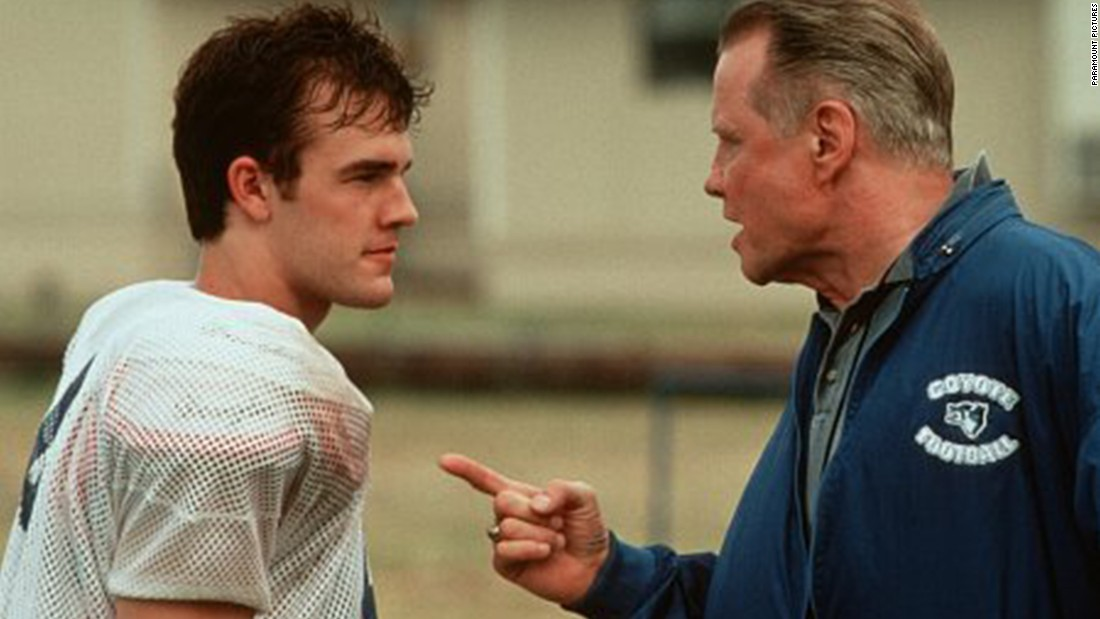"""Varsity Blues"" is another dramatization of Texas high school football. Here, coach Jon Voight faces off with quarterback James Van Der Beek."