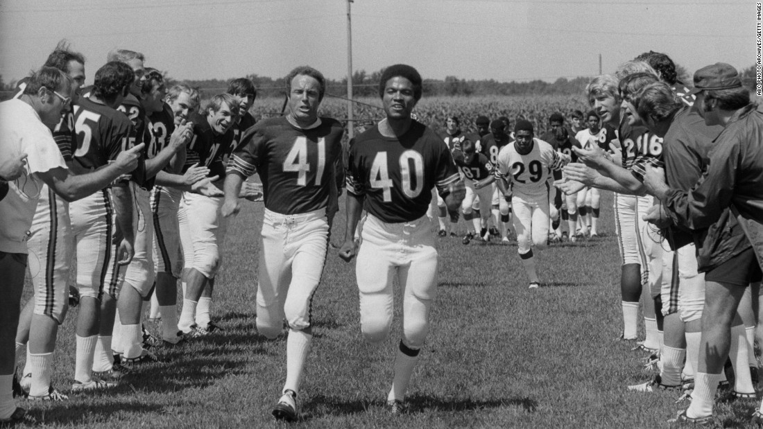 "The 1971 made-for-TV movie ""Brian's Song"" tells the story of the friendship between real-life players Brian Piccolo and Gale Sayers. The emotional crux of the movie is Piccolo's diagnosis with terminal cancer."