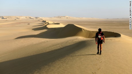 The Sahara leg of the 4 Deserts Race.