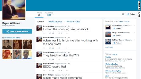 Bryce Williams' tweets