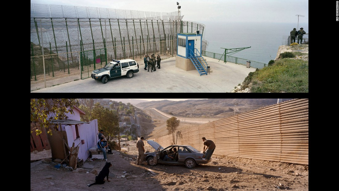 Top: Melilla; Spain, 2009. Bottom: Tijuana, Via de la Juventud Ote; Mexico, 2008.