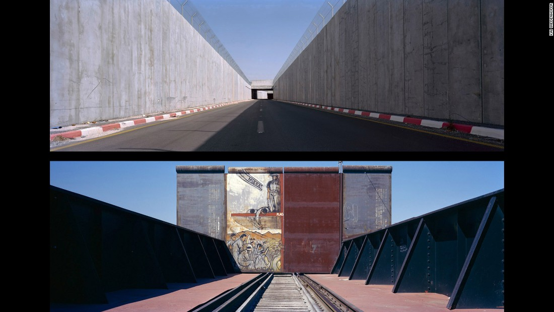 Top: Bir Nabala, Sunken Road; Occupied Palestinian Territories, 2009. Bottom: Ciudad Jurez, Avenue Francisco Villa; Mexico, 2008.
