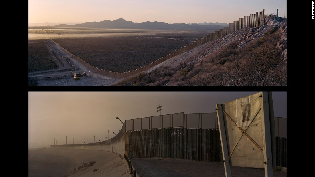 Top: Arizona, Naco; USA, 2008. Bottom: Tijuana, Tijuana River; Mexico, 2007.