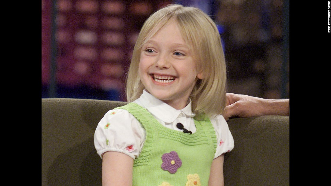 "Fanning was quite the tyke on ""The Tonight Show with Jay Leno"" in 2002."