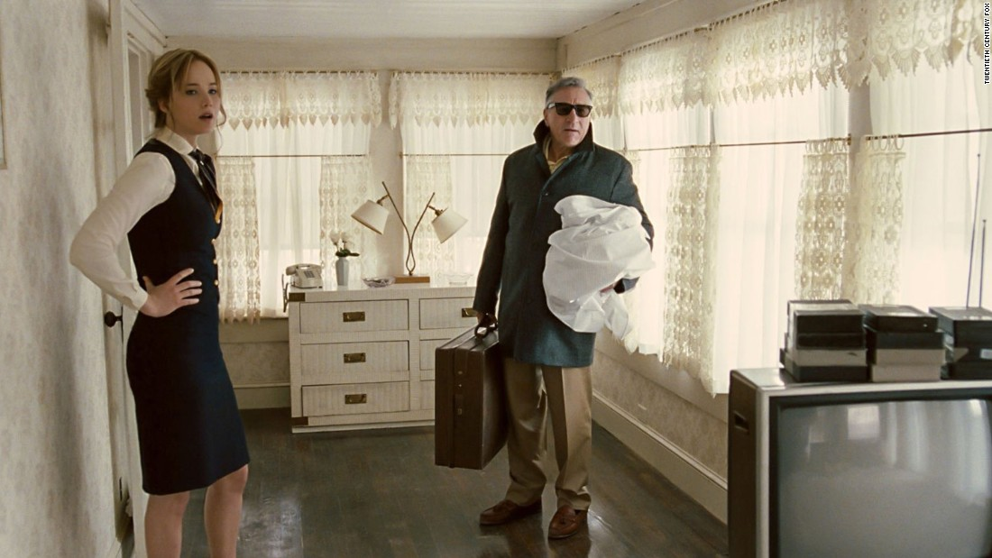 "<strong>""Joy""</strong> re-teams Oscar winner Jennifer Lawrence with director David O. Russell, who directed her in ""American Hustle"" and ""Silver Linings Playbook."" It's based on the true story of Joy Mangano, a housewife who invented the Miracle Mop and other items. Robert De Niro, right, also stars. It's out December 25."