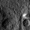 Dawn Ceres mountain closeup