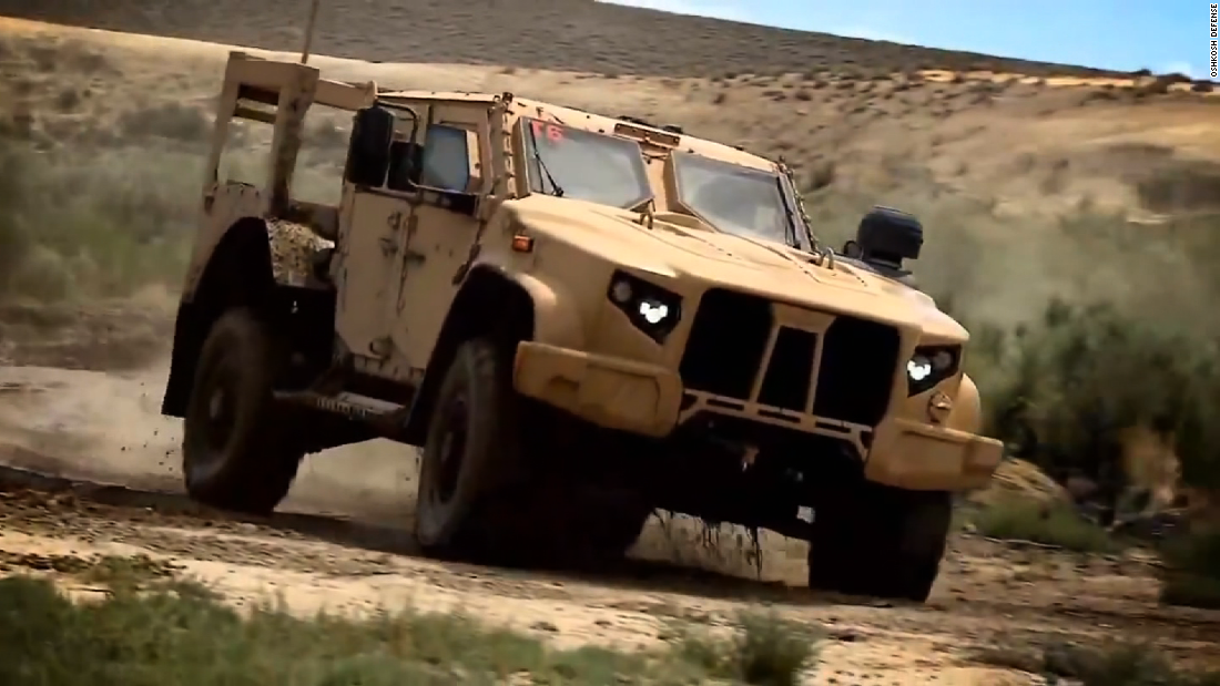 The U.S. Army awarded Oshkosh Defense a massive contract to replace the Humvee with its Join Light Tactical Vehicle in August 2015.<br /><br />The company will be paid $6.75 billion to produce the Humvee replacement.<br /><br />Oshkosh will initially deliver 17,000 JLTVs for the Army and 5,500 for the Marines. The bomb-resistant vehicle can carry four troops and is light enough to be flown to hot spots.