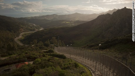 Spain's Ceuta border with Morocco.