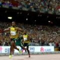Usain Bolt 200m finish line