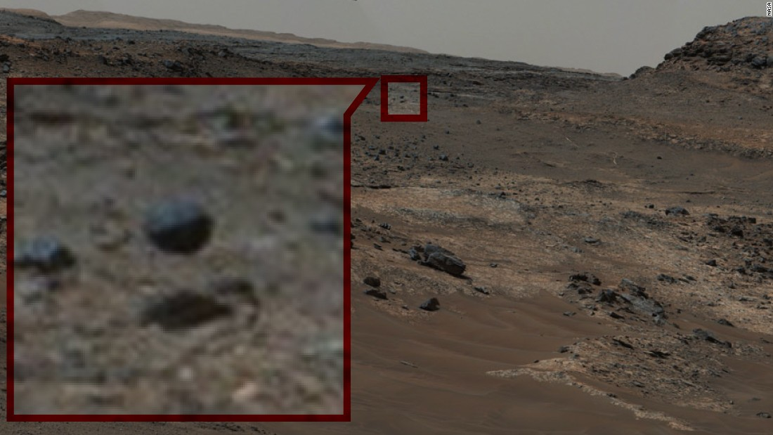 The Floating Rock: Eagle-eyed spectators spotted this sphere levitating above the surface of Mars.