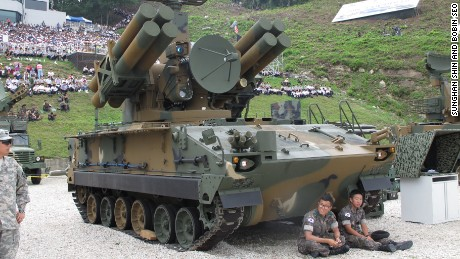 "K-SAM, a.k.a. ""Pegasus"": South Korean anti-aircraft missile. It features 2 radar detectors and an optical camera that can detect subjects up to 9 miles (15 kilometers) away."