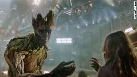 "When his son saw Groot on screen, ""something clicked inside him and he connected with him on a level I haven't seen,"" Josh Dunlap says."