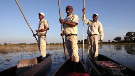The Okavango Delta from a dugout canoe