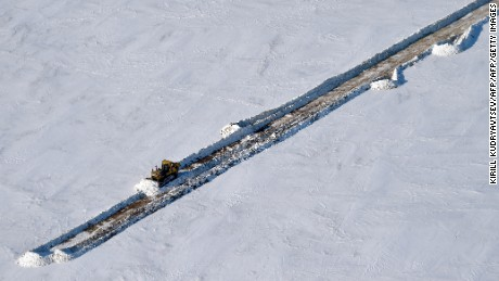 Permafrost melting in arctic causes big problems