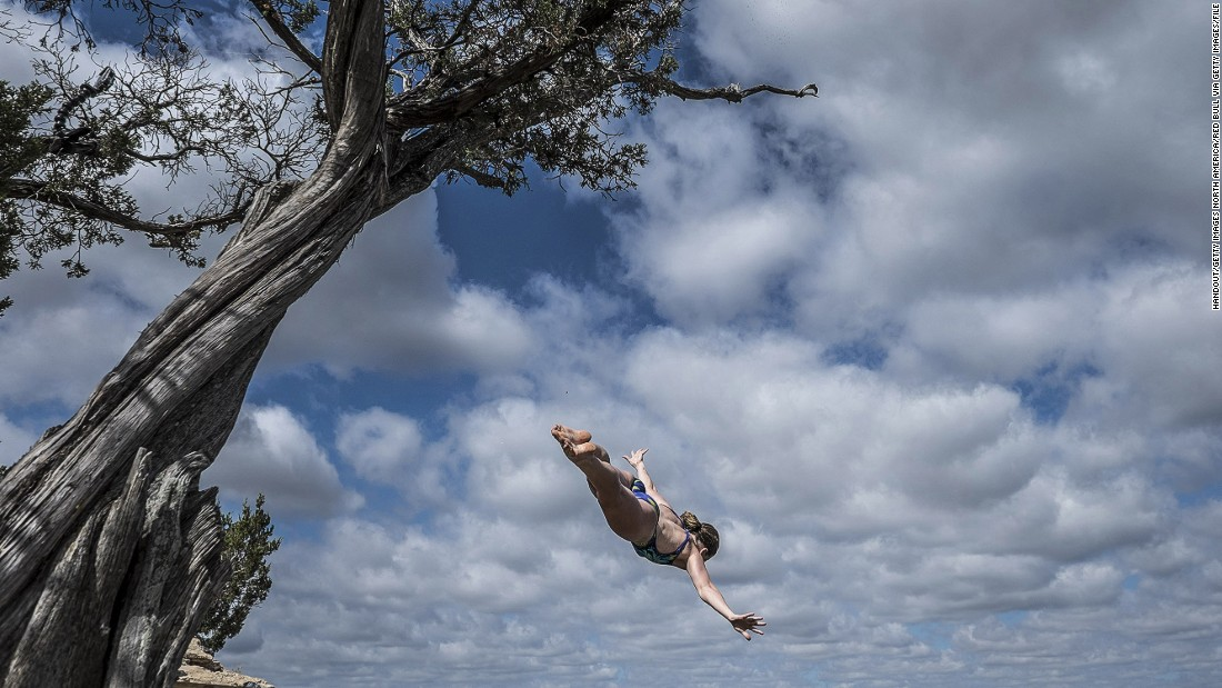 "Gymnast, acrobat and now cliff-diving champ -- the tomboy known as ""Rocco"" has learned to conquer her fears. <a href=""/2015/08/26/sport/rachelle-simpson-cliff-diver/index.html"" target=""_blank"">Read more</a>"