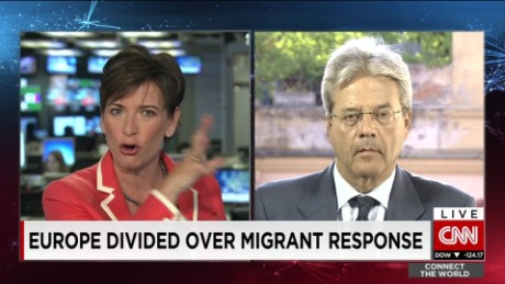 exp Paolo Gentiloni, Italian foreign minister. discusses the migrant crisis in Europe _00002001
