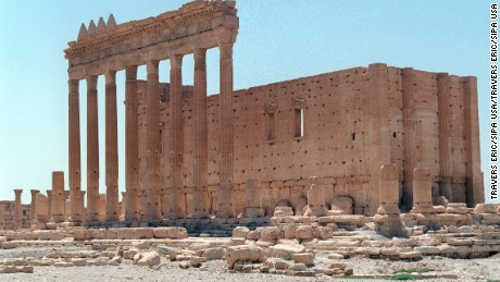 Islamic State (IS) militants in Syria have entered the Unesco World Heritage site of Palmyra after seizing the town next to the ancient ruins. IS has previously demolished ancient sites in Iraq that pre-date Islam. File photo : © Eric Travers/ABACA. 28121-12. Syrie, 08/08/2001. Le temple de Bel de la ville de Palmyre.
