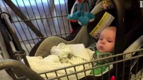 mom forgets 2 month old in shopping cart pkg_00000727