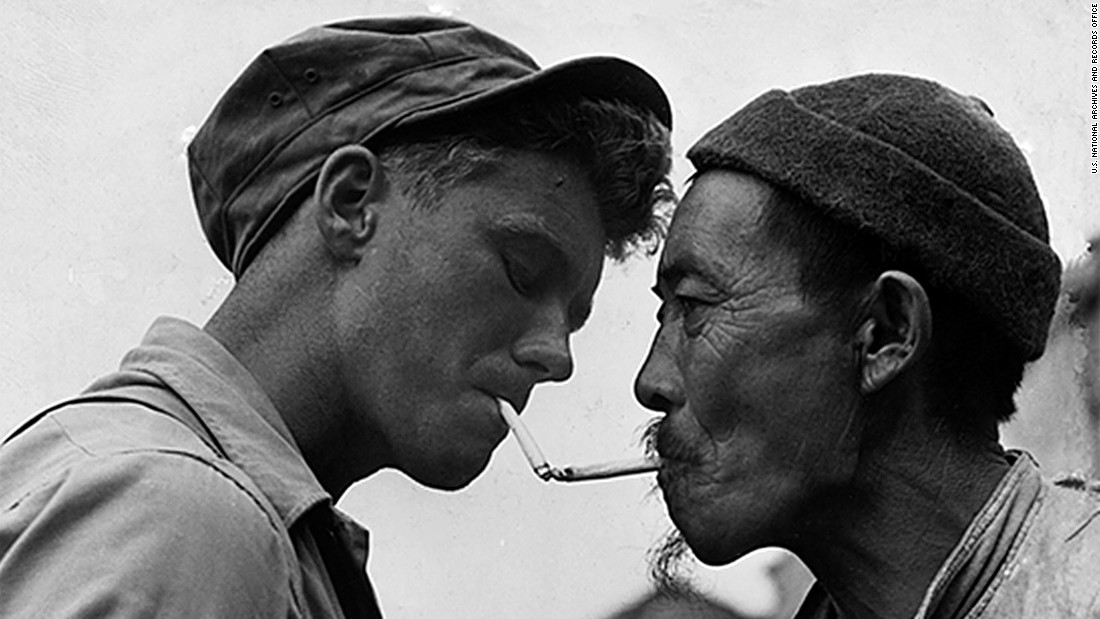 <strong>Smoking statue<strong></strong>: </strong>It has a statue based on this famous wartime photograph -- which shows a US soldier lighting the cigarette of a Chinese worker.
