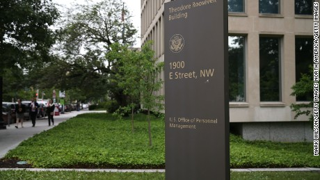 The Theodore Roosevelt Federal Building that houses the Office of Personnel Management headquarters is shown June 5, 2015 in Washington, D.C.