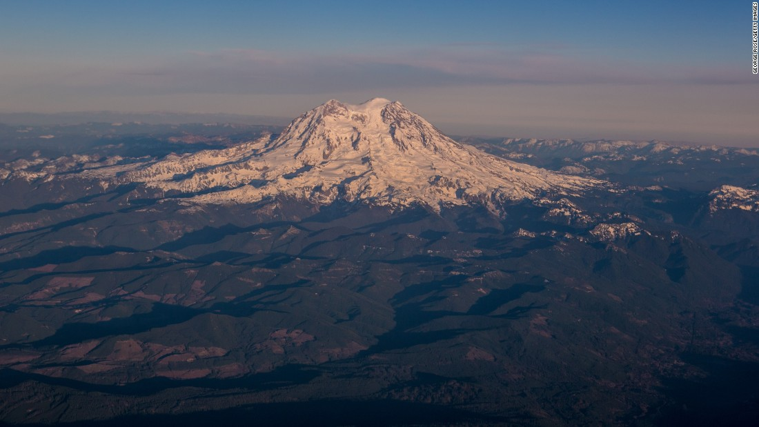 There are Native Americans who want to change the name of Mount Rainier, a dormant volcano southeast of Seattle, back to a Native language name. It's named for a British explorer and naval officer, Admiral Peter Rainier.