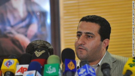 Shahram Amiri speaks to journalists at a press conference after arriving in Tehran on July 15, 2010.