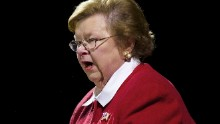 Democratic Sen. Barbara Mikulski speaks during a ceremony commemorating the bicentennial of the writing of The Star-Spangled Banner at Fort McHenry National Historic Park on September 13, 2014, in Baltimore, Maryland.