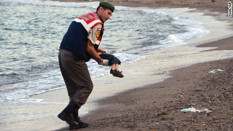 Photo shows one tiny victim of Europe's refugee crisis