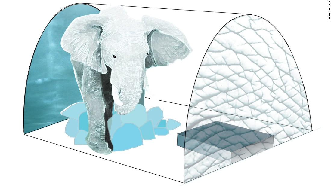 In one suite, Scandinavian artist AnnaSofia Maag will create a life-size ice sculpture of an African elephant. <br />
