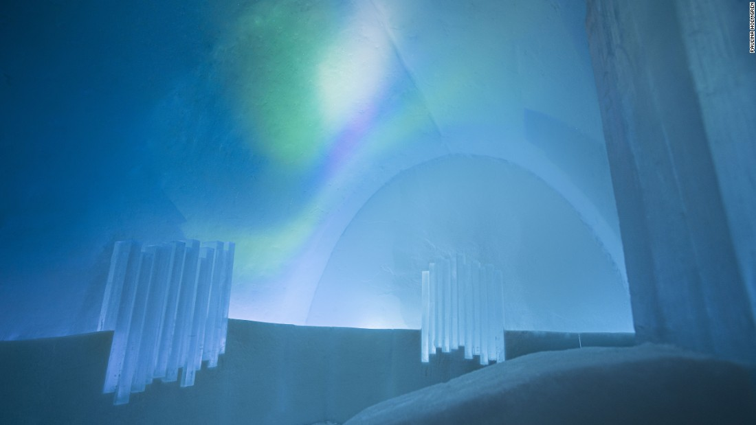 To ensure guests don't miss the Northern Lights, there's a special auroral alarm.