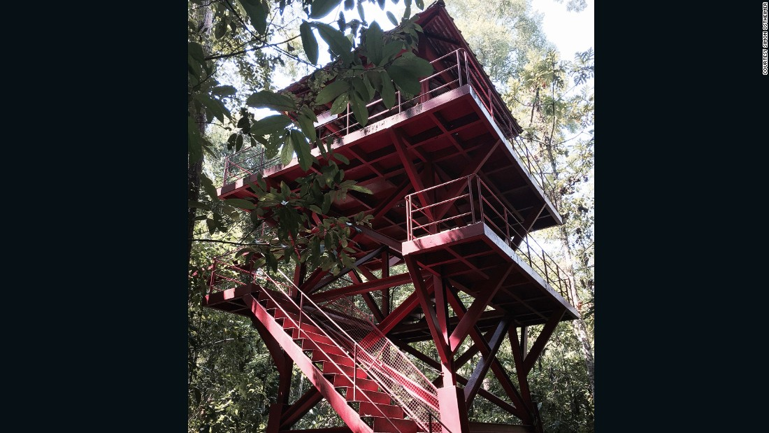 This tower in Peninsula Botanic Garden leads up to the canopy walk. The garden is a 20-minute drive south of Trang.